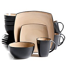 Ordinaire Gibson Home Amalfi 16 Piece Dinnerware Set In Taupe