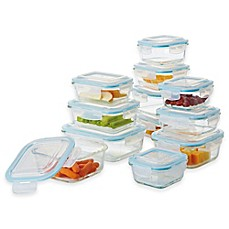 image of Pro Glass 24-Piece Food Storage Set with Easy Snap Lids