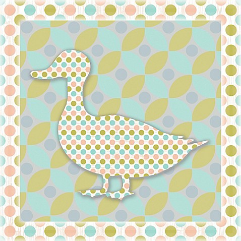 12-Inch x 12-Inch Sweet Pattern Duck Wall Art - Bed Bath & Beyond