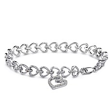 image of Sterling Silver Bracelet with 1/2 cttw White Diamonds