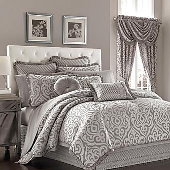 Amazing J. Queen New York™ Luxembourg Comforter Set In Antique Silver
