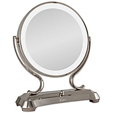 image of Zadro™ 1x/5x Magnifying Oversized Fluorescent Lighted Glamour Vanity Mirror