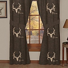 bone collector by michael waddell window curtain panel pair and valance