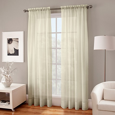 Buy Crushed Voile Sheer 108 Inch Window Curtain Panel In