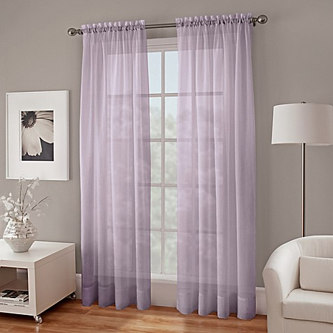Crushed Voile Sheer Window Curtain Panel Bed Bath Amp Beyond