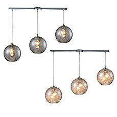 image of HGTV Home Watersphere 3-Light Pendant Light in Polished Chrome