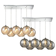image of HGTV Home Watersphere 6-Light Pendant Light in Polished Chrome