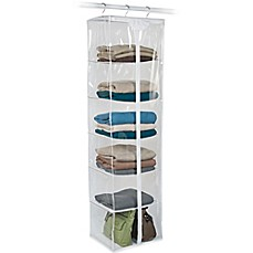 image of Closetware Clear 6-Shelf Sweater Bag