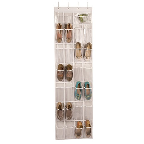 Captivating Closetware Over The Door 24 Pocket Shoe Organizer