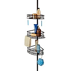 image of Oversized 3-Tier Pole Shower Caddy
