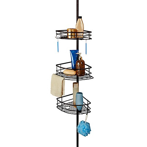 image of Oversized 3 Tier Pole Shower Caddy. Bath Caddies   Bathtub Caddies   Shower Caddies   Bed Bath   Beyond