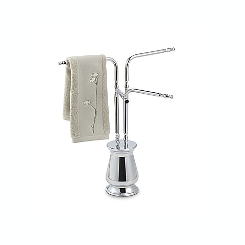 Deluxe 4-Arm Hand Towel Tree in Chrome