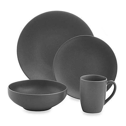 Gibson Home Paradiso 16 Piece Round Dinnerware Set In Grey
