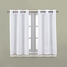 bed bath and beyond bathroom curtains. image of Hookless  Escape 45 Inch Bath Window Curtain Panels Curtains Valances more