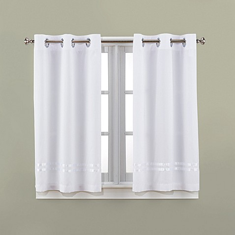 Bathroom Window Curtains Uk hookless® escape 45-inch bath window curtain panels - bed bath