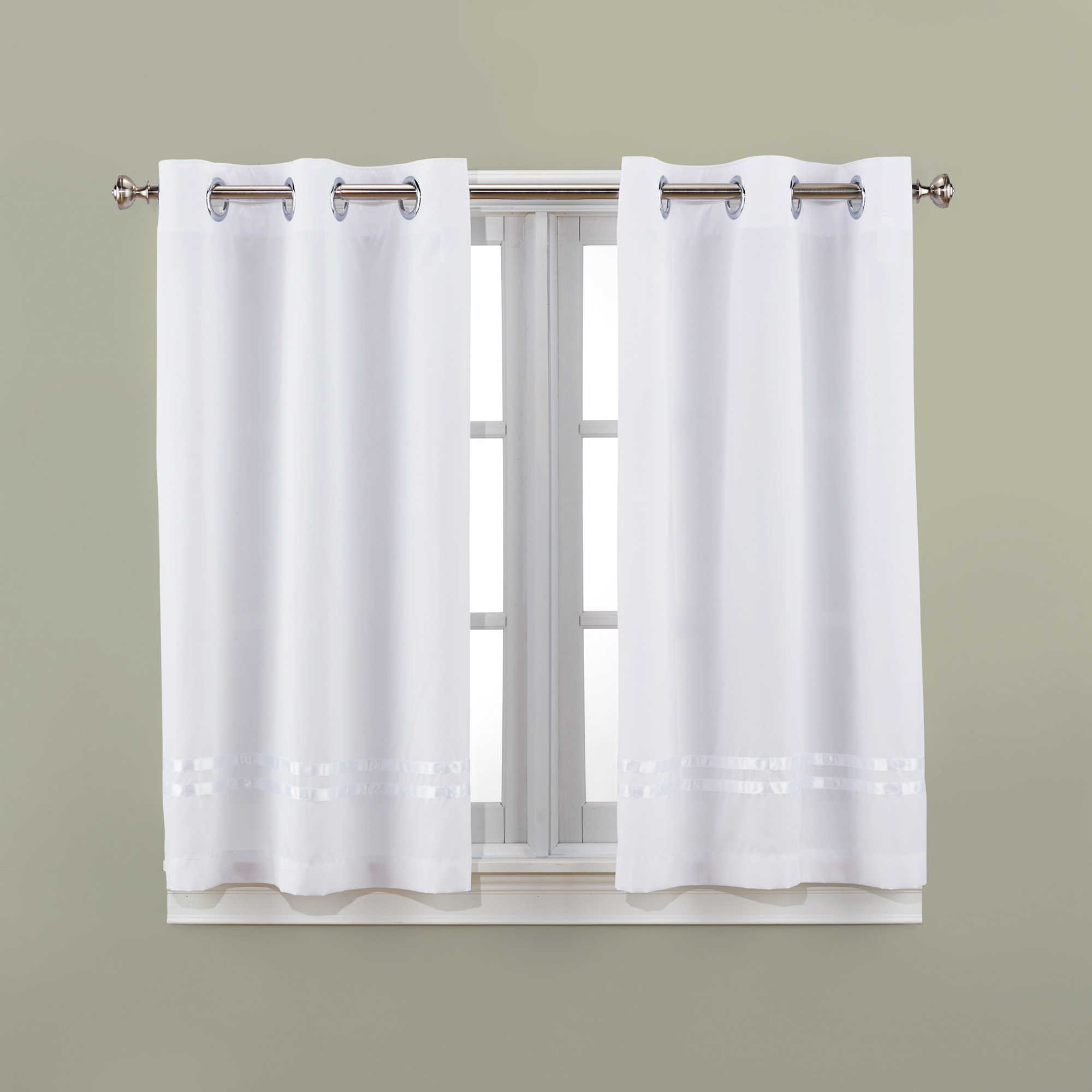 Hooklessreg Escape 45 Inch Bath Window Curtain Panels