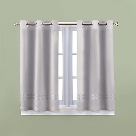 Buy Hookless Escape 45 Inch Bath Window Curtain Panels In Grey From Bed Bath Beyond