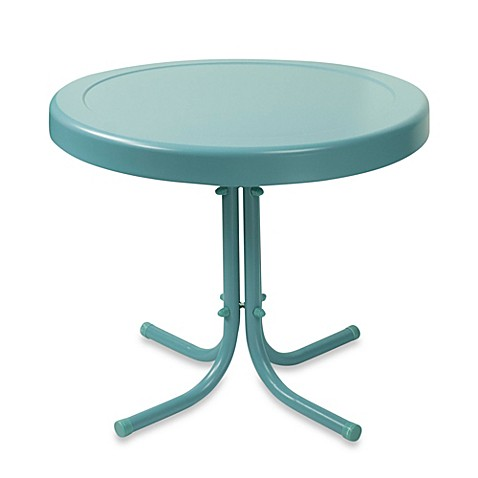 image of crosley griffith outdoor metal side table - Outdoor Accent Tables