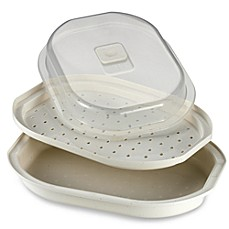 image of SALT™ Meals in Minutes Microwave Fish and Vegetable Steamer