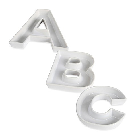 ... > Bridal Party Gifts > Ivy Lane Design™ Ceramic Letter Candy Dish