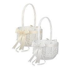 image of Ivy Lane Design™ Chantilly Lace Flower Girl Basket