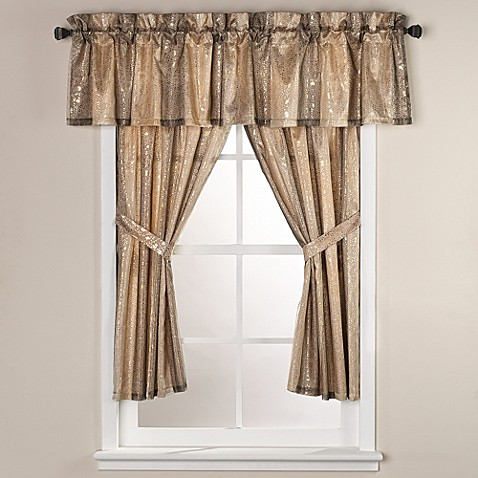 Sheer Bliss 15 Inch X 72 Inch Window Curtain Valance Bed