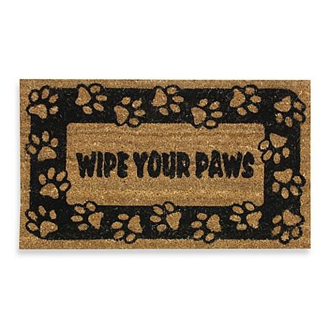 Wipe Your Paws Door Mat Bed Bath Amp Beyond