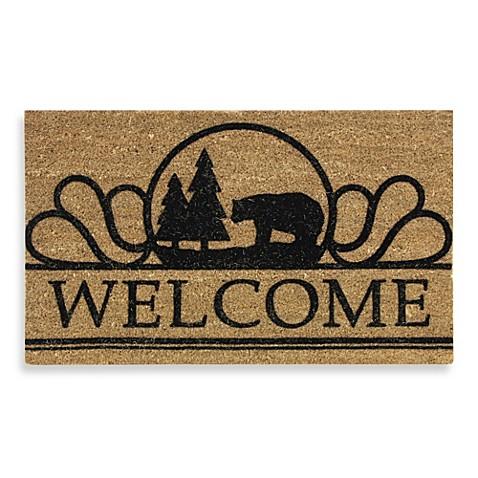 Wilderness bear welcome home door mat bed bath beyond for Welcome home front door mats