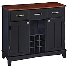 image of Home Styles Large Server With Wood Top