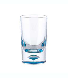 Vaso de acrílico Destination Summer old fashioned doble color azul
