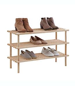 Zapatera de madera SALT™ con 3 niveles