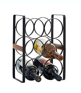 Organizador Artisanal Kitchen Supply® para 6 botellas color negro