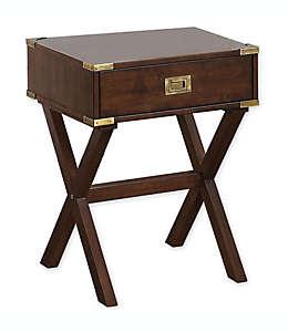 Mesa con cajón color café nogal