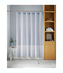 Cortina de baño de algodón orgánico y poliéster Haven™ de 1.82 x 1.82 m color azul