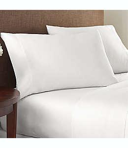 Sábana plana queen de algodón NestWell™ de 400 hilos color blanco brillante