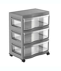 Organizador de polipropileno Simply Essential™ con 3 cajones grandes color gris