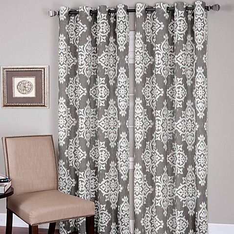 Buy Medina Grommet 84 Inch Window Curtain Panel In Grey
