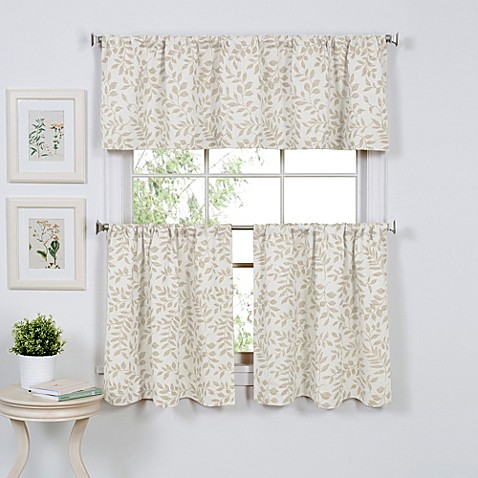 serene window curtain tier pairs and valance - bed bath & beyond