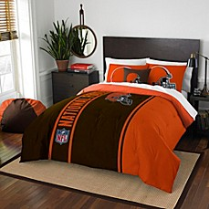 image of NFL Cleveland Browns Embroidered Comforter Set