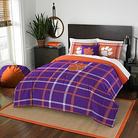 Clemson University Embroidered Comforter Set Bed Bath