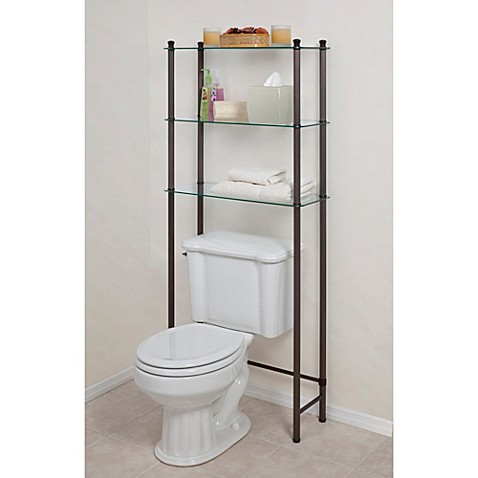 l 39 etagere 3 shelf space saver in oil rubbed bronze bed bath beyond. Black Bedroom Furniture Sets. Home Design Ideas