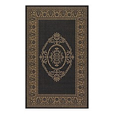 image of Couristan Antique Medallion Indoor/Outdoor Rugs in Black/Cocoa