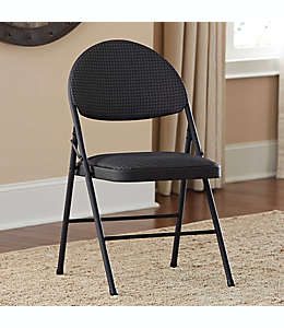 Silla plegable Cosco®, grande de metal tapizada, en negro
