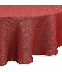 Mantel redondo de poliéster Noritake® color rojo