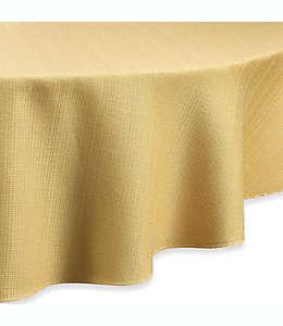 Mantel redondo de poliéster Noritake® color mostaza