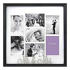 image of occasions mr and mrs 7 photo wedding collage frame