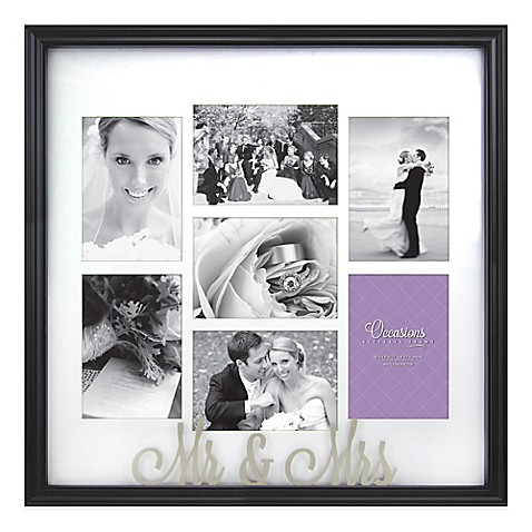 occasions mr and mrs 7 photo wedding collage frame - Mr And Mrs Frame