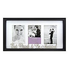image of occasions 3 photo eat drink be married collage frame in black