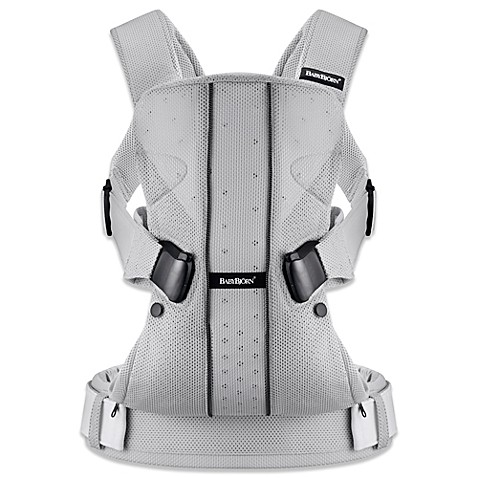 baby bjorn mesh carrier one in silver buybuy baby. Black Bedroom Furniture Sets. Home Design Ideas