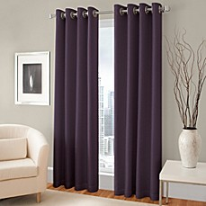 Image Of Majestic Blackout Lined Grommet Window Curtain Panel